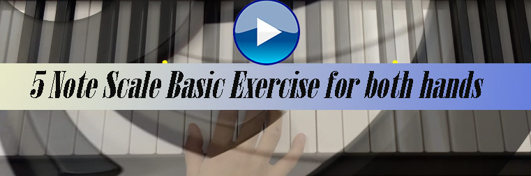 5 note scale two hand basic finger execs for beginning students
