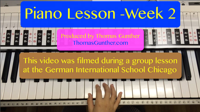 Piano Lesson GISC Week 2