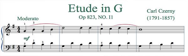 Etude in G