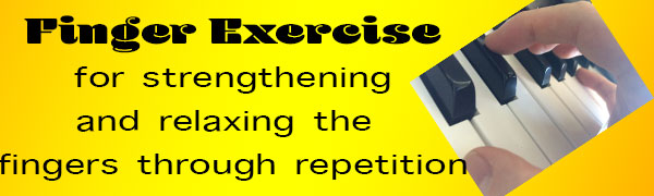 5 Finger Repetition Exercise For Both Hands